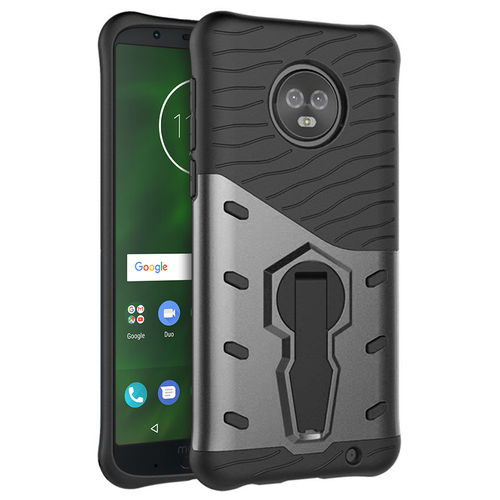 Slim Shield Tough Shockproof Case for Motorola Moto G6 Plus - Grey